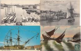 VOILIERS LOT De 35 CPA CPSM - Cartes Postales