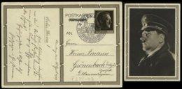 P0163 - DR Propaganda GS Postkarte Adolf Hitler Geburtstag 1939: Gebraucht Mit  Sonderstempel Nürnberg 20.4.1939 - Grö - Alemania