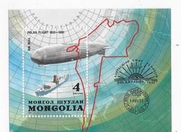 Mongolia 1981 Graf Zeppelin Polar Flight S/S MNH - Mongolia