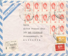 Argentina Registered Air Mail Cover Sent To Germany 31-5-1971 With A Lot Of Stamps - Posta Aerea