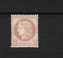 N 51 Neuf **  2c Rouge Brun Bon Centrage - 1871-1875 Ceres