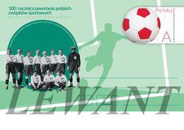 POLAND Postcard 2019.12.20. Cp 1879 100th Anniversary Of The Establishment Of Polish Sports Associations - Football - Entiers Postaux