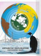 Mongolia 1980 Antarctic Animals And Exploration Penguins Map S/S MNH - Mongolia