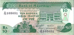 MAURITIUS  -  Banconota Da 10 Rupees - Anno 1985 - Mauritius