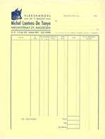 Factuur Facture - Vleeshandel Michel Lootens - De Taeye - Maldegem - Alimentaire