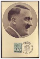 """DT- Reich (007613) Propagandakarte """"Männer Der Zeit NR 91 Der Führer Adolf Hitler"""" Blanco Gestempelt Mit SST München - Briefe U. Dokumente"""