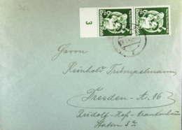 DR: Fern-Brief Mit 6+24 Pf Tag Der Bfm Vom Senkrechtes Unterrandpaar Aus Posen 9 Vom 28.1.41 Knr: 762 (2) - Briefe U. Dokumente