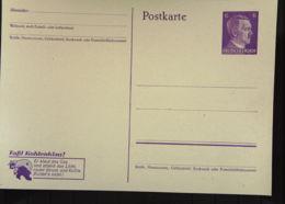 """DR: Gs-Karte Mit 6 Pf """"Hitler"""" Mit Propaganda-Zudruck: """"Faßt Kohlenklau! Er Klaut Das Gas..."""" -ungebraucht Knr: P 312/02 - Briefe U. Dokumente"""