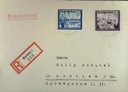 DR: E-Orts-Brief Mit 20+30,24+36 Pf Kameradschaftsblock III. Aus Bautzen (916) Vom 21.5.44 Nicht Portoger. Knr: 892,893 - Briefe U. Dokumente