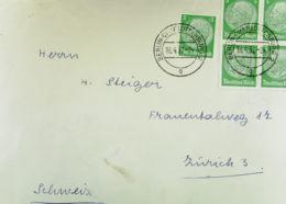 """DR: Ausl-Brief Mit 5 Pf """"Hindenburg"""" Dabei 4-er Block OSt. Berlin-Charlottenburg 2 Vom 18.4.37 Portogenau   Knr: 515 (5) - Briefe U. Dokumente"""