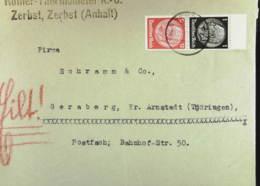 """DR: Fern-Brief Mit 1 Und 12 Pf """"Hindenburg"""" Senkr. Zusdr. OR  Knr: S 147 - Briefe U. Dokumente"""