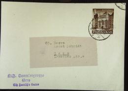 DR: Ds-Karte Der Sammlergruppe Gera Mit 3+2 Pf Winterhilfswerk 1940 EF  Knr: 751 - Briefe U. Dokumente