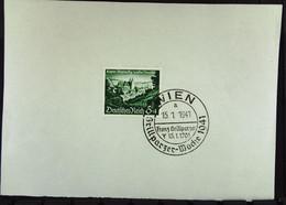 DR: 2 Kt-große Unterlagen Wiedereingliederung MALMEDY SoSt. Wien 15.1.41, EUPEN SoSt. FREIBURG 10.11.40 Knr: 748/9 - Briefe U. Dokumente