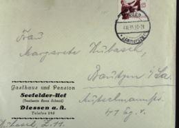 """DR: Fern-Brief Mit 15 Pf """"Welttreffen Der Hitlerjugend"""" EF Aus Dissen Vom 4.10.35 Nach Bautzen -3 Pf überfrank. Knr: 585 - Briefe U. Dokumente"""