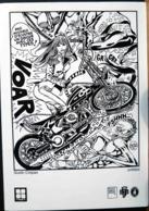 MOTO PAS POSSIBLE D'ECOUTER UN DISQUE AVEC CE TYPE HARLEY DAVISDSON GUIDO CREPAX BRIGITTE BARDOT - Motos