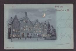 CPA Cut Out Transparente Système Contre La Lumière Circulé Frankfurt - Tegenlichtkaarten, Hold To Light