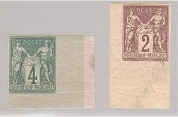 Colonies Générales SAGE 2c + 4c COINS DE FEUILLE ! - Sage