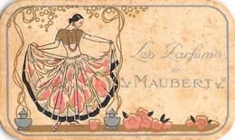 RARE!  Parfumkaart Art Deco Carte Parfumee Les Parfums De Maubert Blanco ! Geen Reclame Op Achterzijde Barry 2060 - Anciennes (jusque 1960)