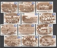 UU025 ONLY ONE IN STOCK NANUMEA-TUVALU FOOTBALL WORLD CUP MEXICO 1986 MICHEL #72-83 12 EU 1SET MNH - Coppa Del Mondo