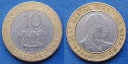 KENYA - 10 Shillings 1995 KM#25 Republic Since 1964 Bi-metallic- Edelweiss Coins - Kenia