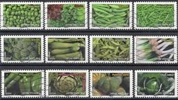 France - Adhésifs N° 739 à 750 Oblitérés - Série Complète - Botanique - Légumes - France