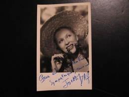 Carte Autographe - JOSETTE DAY - POUR LILIANE SYMPATHIQUE SOUVENIR - Autografi
