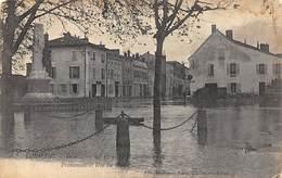 Louhans       71       Inondation De 1913. Promenade Et Rue Du Musée    (voir Scan) - Louhans