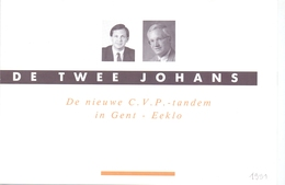 Brochure Politiek Verkiezingen CVP - Gent Eeklo - Johan Van Hecke & Johan De Roo - 1991 - Oude Documenten