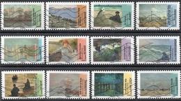 France - Adhésifs N° 825 à 836 Oblitérés - Série Complète - Arts - Peintres - Impressionnisme - France