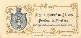 RARE!  Basilique Nationale Bruxelles  Coeur Sacré De Jésus Protégez La Belgique  Barry 2062 - Images Religieuses