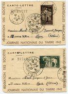 RC 14799 FRANCE JOURNÉE DU TIMBRE 1943 A NIMES TB - France