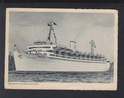 Dt. Reich AK KdF Schiff Wilhelm Gustloff 1943 Feldpost Gotenhafen - Steamers