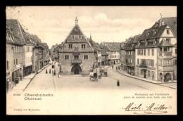 67 - OBERNAI - OBEREHNHEIM - PLACE DU MARCHE ET HALLE AUX BLES - Obernai