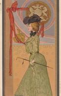 ILLUST  BACH    ARPAD  ART NOUVEAU  Serie 653  No5    (la Francaise) - Illustratori & Fotografie