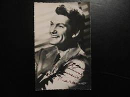 Carte Autographe - JEAN MARAIS - POUR MADAME LILIANE CE SOUVENIR DE  - Photo CARLET - Autographes