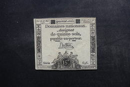 FRANCE - Assignat De 15 Sols - Série 696 - L 48834 - Assignats
