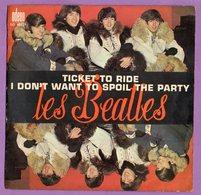 Pochette Vide  De Disque 45 Tours Les Beatles Ticket To Ride  Lennon Et Mccartney - Accessoires, Pochettes & Cartons