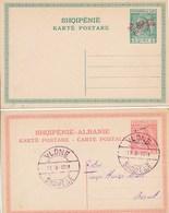Lot De 4 Entiers Postaux Albanie Shqipenie Vloné   2 Entiers Cartes  Reponse - Albania