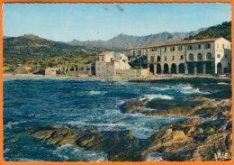 """20 2B   ALGAJOLA  Hte Corse  """" L'Hotel De La Plage """"  Postée à BASTIA    Le 29 8 1966     CPSM  Num 20 - France"""