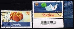 Bund 2018,Michel# 3386 - 3387 O Grußmarken - Used Stamps