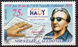 Nouvelle-Calédonie 2019 - 40 Ans De AVH, Timbre Braille Pour Aveugles - 1 Val Neuf // Mnh - Neufs