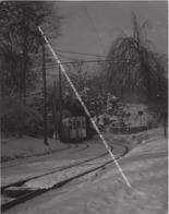 PHOTO TRAM EN PAYSAGE DE NEIGE / LIGNE S NORD NOORD MUTSAERT - STROMBEEK HET VOOR / TRAM IN SNEEUWLANDSCHAP - Tram