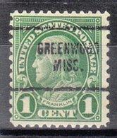 USA Precancel Vorausentwertung Preo, Locals Mississippi, Greenwood 632-704 - Vereinigte Staaten