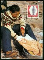 Mk Greenland Maximum Card 2000 MiNr 357 | Cultural Heritage, Sealskin - Cartes-Maximum (CM)