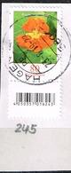 Bund 2019,Michel# 3469 R O Blumen: Kapuzinerkresse Mit EAN-Code Und Nr. 245 - BRD