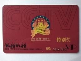 China, 2002 CCTV Senda Cup, TV Program Selection Activity Card, (1pcs) - China