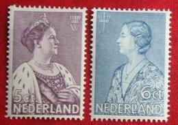 Crisis Zegel NVPH 265-266 (Mi 272-273) 1934 Ongebruikt / MH NEDERLAND / NIEDERLANDE - Ungebraucht