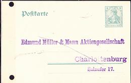 Deutsches Reich German Empire Empire Allemand - Postkarte Germania DR (MiNr: P 78)  1908 - Gebraucht  Lesen - Postwaardestukken