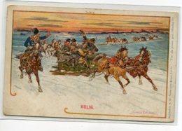 POLOGNE Le KULIG Traineaux De Noel Dans La Neige Illustrateur 1900    D19 2019 - Polen