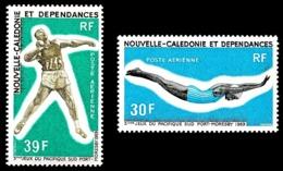 NOUV.-CALEDONIE 1969 - Yv. PA 106 Et 107 *   Cote= 14,50 EUR - Jeux Sportifs Du Pacifique-Sud (2 Val.)  ..Réf.NCE24746 - Posta Aerea